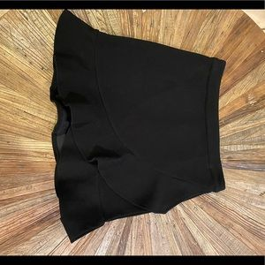 Lovers and friends black ruffle asymmetrical skirt
